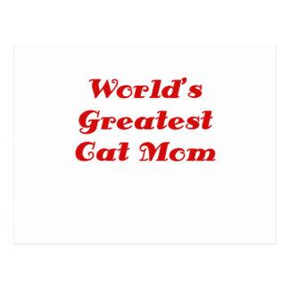 Worlds Greatest Cat Mom Postcard