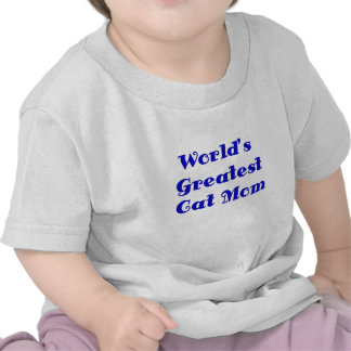 Worlds Greatest Cat Mom T-shirts