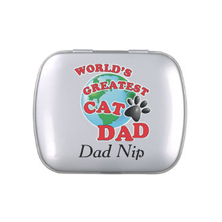 Worlds Greatest Cat Nip Cat Dad Candy Tins