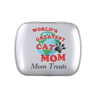 Worlds Greatest Cat Nip Cat Mom Candy Tins