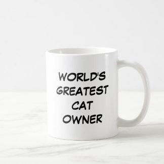 """World's Greatest Cat Owner"" Mug"