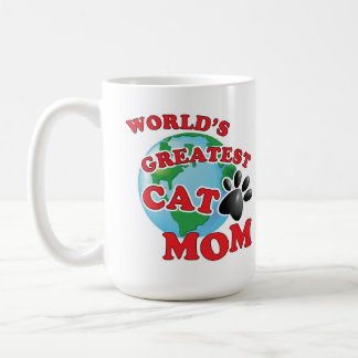 World's Greatest Cat Paw Cat Mom Coffee Mug
