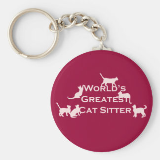 World's Greatest Cat Sitter Keychain