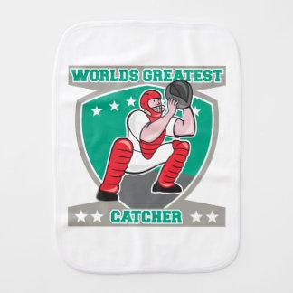 Worlds Greatest Catcher Burp Cloth