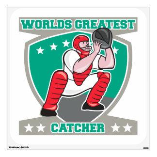 Worlds Greatest Catcher Wall Sticker
