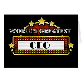 World's Greatest CEO Card