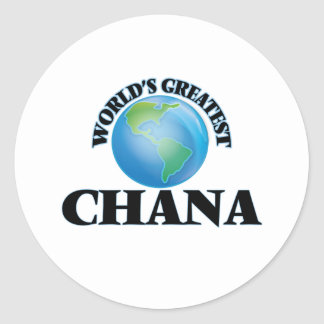 World's Greatest Chana Classic Round Sticker