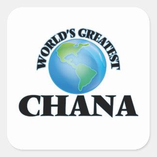 World's Greatest Chana Square Sticker