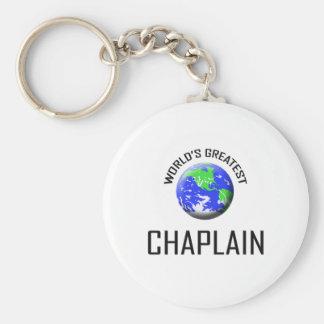World's Greatest Chaplain Basic Round Button Keychain
