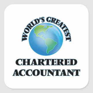 World's Greatest Chartered Accountant Square Sticker