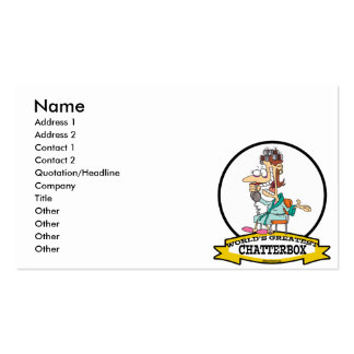 WORLDS GREATEST CHATTERBOX WOMEN CARTOON BUSINESS CARDS