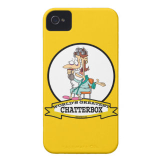 WORLDS GREATEST CHATTERBOX WOMEN CARTOON iPhone 4 CASES