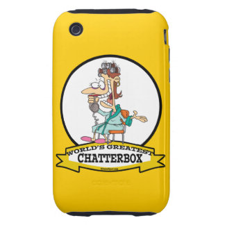 WORLDS GREATEST CHATTERBOX WOMEN CARTOON TOUGH iPhone 3 CASES
