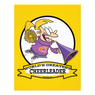 WORLDS GREATEST CHEERLEADER GIRL CARTOON FLYER