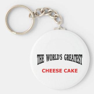 World's greatest cheesecake keychain
