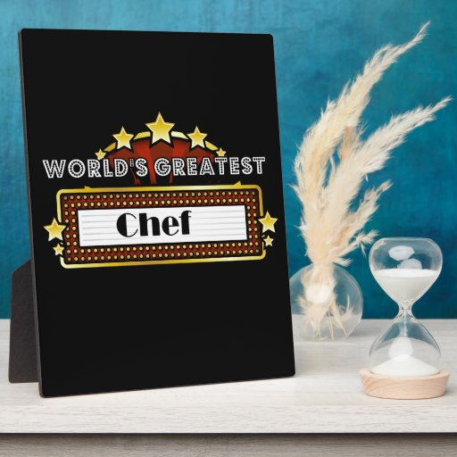 World's Greatest Chef Photo Plaques