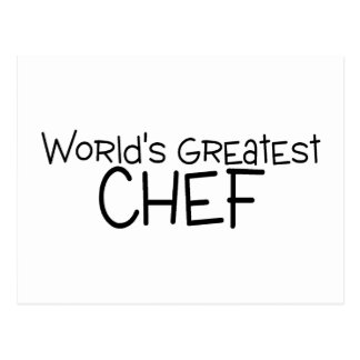Worlds Greatest Chef Postcard