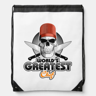 World's Greatest Chef v1 Drawstring Bag