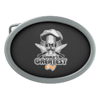 World's Greatest Chef v4 Oval Belt Buckle