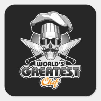 World's Greatest Chef v4 Square Sticker
