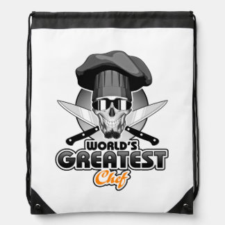 World's Greatest Chef v7 Drawstring Backpack