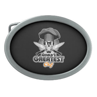 World's Greatest Chef v7 Oval Belt Buckle