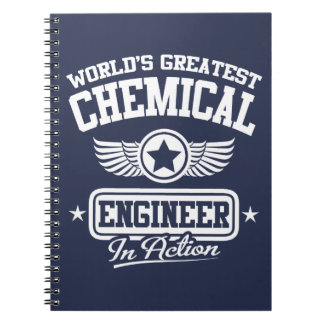 World's Greatest Chemical Engineer In Action Spiral Note Book