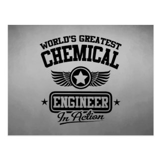 World's Greatest Chemical Engineer In Action Postcard