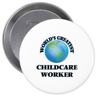 World's Greatest Childcare Worker Pins