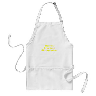 Worlds Greatest Chiropractor Adult Apron
