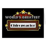 World's Greatest Chiropractor Card