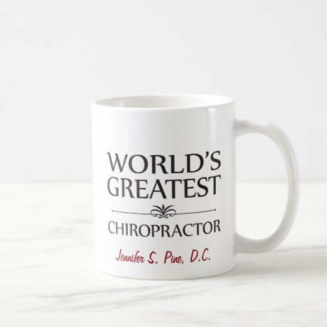 World's Greatest Chiropractor Custom Mug