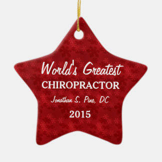 World's Greatest Chiropractor Customized Ornament