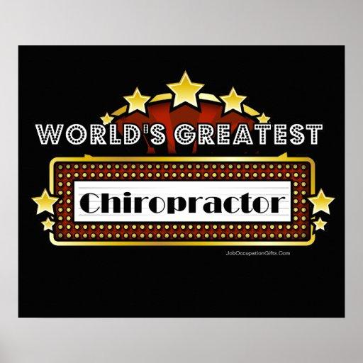 World's Greatest Chiropractor Poster