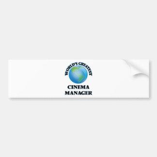 World's Greatest Cinema Manager Bumper Sticker