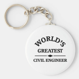 World's greatest Civil Engineer Keychain