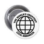World's Greatest Civil Engineer Pins