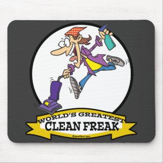 WORLDS GREATEST CLEAN FREAK WOMEN CARTOON MOUSE PAD