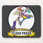 WORLDS GREATEST CLEAN FREAK WOMEN CARTOON MOUSEPAD