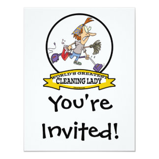 WORLDS GREATEST CLEANING LADY CARTOON CARD