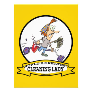 WORLDS GREATEST CLEANING LADY CARTOON FLYER