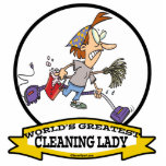 WORLDS GREATEST CLEANING LADY CARTOON PHOTO SCULPTURES