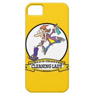 WORLDS GREATEST CLEANING LADY II WOMEN CARTOON iPhone SE/5/5s CASE