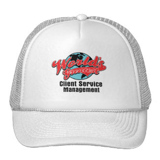 Worlds Greatest Client Service Management Mesh Hats