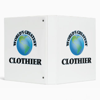 World's Greatest Clothier 3 Ring Binders