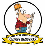 WORLDS GREATEST CLUMSY HANDYMAN MEN CARTOON CUT OUTS