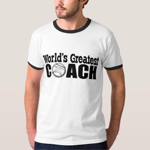 World 39 s greatest coach baseball t shirt or hat zazzle for Best baseball t shirts