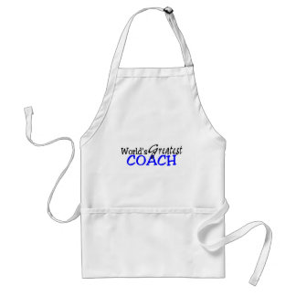 Worlds Greatest Coach Blue Black Adult Apron