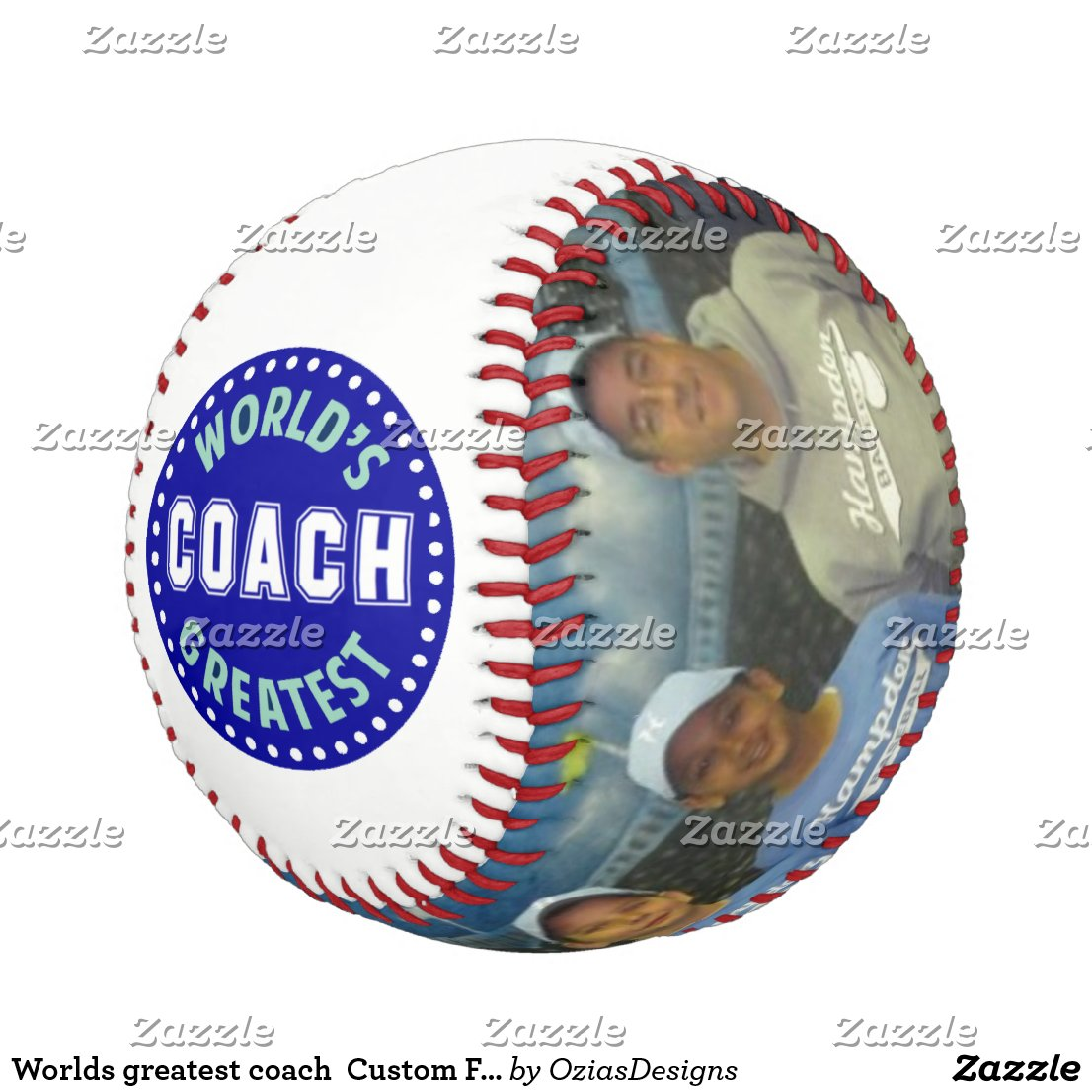Worlds greatest coach  Custom Family Photos Baseball