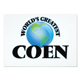 World's Greatest Coen 5x7 Paper Invitation Card